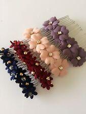 1 Girl Women Flower Daisy Retro Bohemian School Hair head Comb clip barrette pin