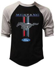 Men's Ford Mustang Black Baseball Raglan T Shirt GT350 Shelby Cobra Muscle Car