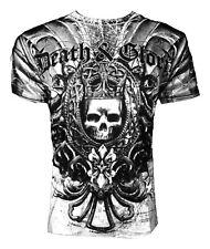XZAVIER [DEATH GLORY] T-SHIRT MMA UFC BIKER HARLEY ROCKER GOTHIC TRIBAL SKULL  X