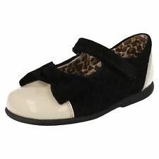Startrite Niña Zapatos De Cuero Negro & Crema 'Belle' OFERTA