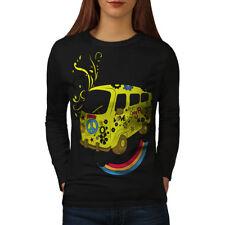 Peace Love 420 Rasta Women Long Sleeve T-shirt NEW | Wellcoda
