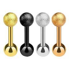 Piercing al Trago conchiglia, Helix, Snug Orecchini a bottone in acciaio ip MATT