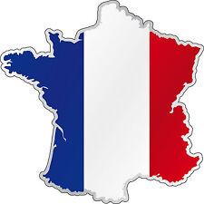Sticker carte de France réf C522 (plusieurs dimensions)