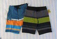 Quiksilver Board shorts Men Sizes 30 31 32 Striped Trunks Black Blue Boardshorts