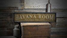 Custom Havana Room Fine Cigar Sign - Rustic Hand Made Vintage Wooden ENS1000501