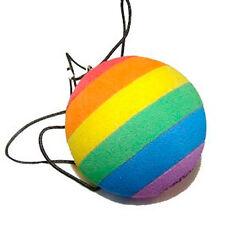 Rainbow Cat Ball Toy (Cats / Kittens) - LGBT Gay Lesbian Pride Pet Accessories
