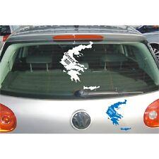 Landkarte Aufkleber  Griechenland Greece Länder Land Sticker Autoaufkleber 1