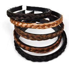 Haarreif Zopf Haarreifen geflochten Perücke Haarschmuck Kunsthaar 5 Farben Braun