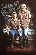 History's Swamp People - Swamp Queens Liz & Kristi Women's T-Shirt (Black)