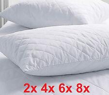 2x 4x 6x 8x SUPER FIRM Quilted Hollow Spiral Fibre Filled Pillows
