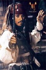 63130 PIRATES OF THE CARIBBEAN Johnny Depp Sword FRAMED CANVAS PRINT UK