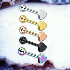 1.6mm 14G 3mm Labios Oreja Tragus Helix Bola 9ct Oro Bola de Cristal Superior Labret Stud