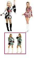 60'S HIPPY CHICK FLOWER POWER Carnaby Street  groovy Fancy Dress Costume UK 8-14