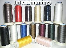 FILO di nylon con legante 40s 500 Metri Cucito Tappezzeria, bagagli, tende, ecc, GRATIS P&P