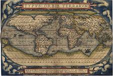 """Abraham Ortelius : """"Typus Orbis Terrarum"""" (1570) — Giclee Fine Art Print"""