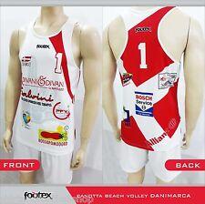 FOOTEX Canotta Beach Volley DANIMARCA Made in Italy Sconti per Squadre o Società