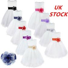 UK Flower Girl Dress Children Girls Formal Wedding Pageant Party Princess Dress
