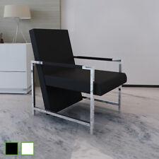 Fauteuil magnifique avec pieds chromés Chaise Moderne Design Noir/Blanc 1 pc