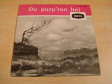 TONY VAN DER HEYDEN - DE PURP'REN HEI / 45 EP