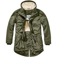 Brandit Marsh Lake Parka Mens Warm Winter Teddy Military Army Vintage Coat Olive