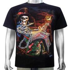 Skeleton Custom Electric Lead Bass Guitar Rock Music Band Tee Men T-shirt M & L