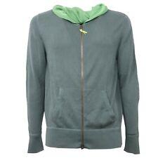 B3668 maglione uomo ALTEA felpa verde con zip sweatshirt men