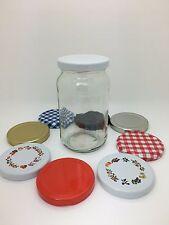 12 x 1lb (380ml) Round Glass Jars ideal for Jam, Marmalade, Chutney, Preserves