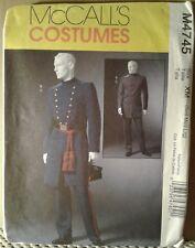 McCall's 4745 Civil War Soldier Dress Uniforms, Blue Gray Costume Sewing Pattern