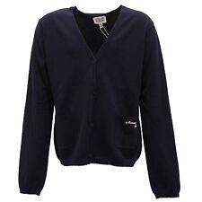 9258R maglione bimba ARMANI JUNIOR blu cardigan sweater kid