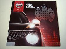 Nissan. juke. Nissan JUKE. Ministry of Sound. 2012 sales brochure