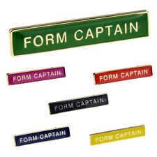 Rectangular School FORM CAPTAIN Pin Badge XSBR006