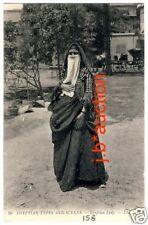 Egypt VEILED ARAB LADY / VERSCHLEIERTE FRAU * Vintage Ethnic PC