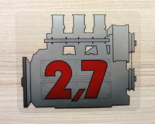 PORSCHE 911 2,7 precoce Adesivo MOTORE-VINTAGE 2.2 STILE RETRO SCHERMO Decalcomania