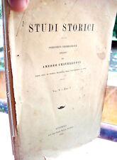 1896 PERIODICO DI STUDI STORICI DI AMEDEO CRIVELLUCCI PISA PAVIA SARDEGNA...
