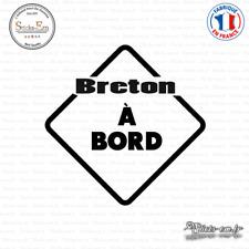 Sticker Breton à bord Decal Aufkleber Pegatinas D-324 Couleurs au choix