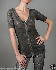 Stella & Jamie Rock Top T-Shirt Dark Grey size XS