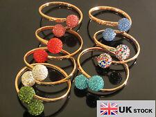 Nuevo Shamballa de cristal Premium 2 bolas de arcilla Pulseras Brazalete-Reino Unido Vendedor