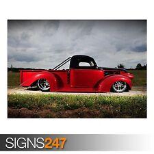 Chevy Hot Rod 1946 (AA969) Cartel de coche clásico-arte cartel impresión A0 A1 A2 A3