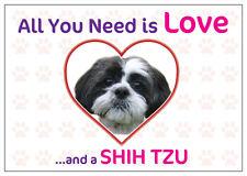 Funny Love and a Shih Tzu Vinyl Car Van Decal Sticker Dog Pet Animal Lover