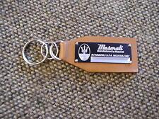 Maserati Data Plate Leather Keychain Quattroporte Gran Turismo Cambio Corsa GT