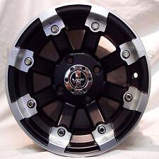1) 12x8 4/115 4+4 DOT Vision Style 393 LOCKOUT MBML ATV UTV Mini-Truck RIM WHEEL