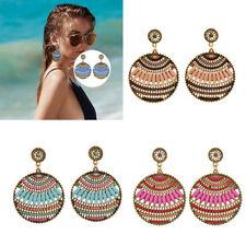 New Fashion Women Ladies Boho Hollow Flower Round Ear Stud Drop Earrings Gifts