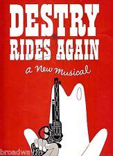 "John Raitt ""DESTRY RIDES AGAIN"" Anne Jeffreys 1959 Souvenir Program"