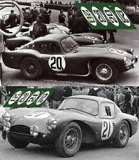 Calcas Aston Martin DB3S Le Mans 1954 20 21 1:32 1:24 1:43 1:18 slot decals