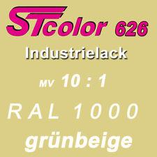 1,1 kg STC 2K PUR Industrielack 10:1 RAL 1000 grünbeige Lack Set mit Härter
