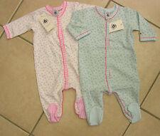 Strampler/Overall/Schlafanzug, Mädchen, weiß oder bleu von Petit Bateau. NEU!!