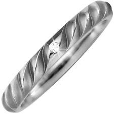 Anello Anello di fidanzamento in titanio con diamante brillante Scanalato
