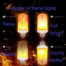 B22 E26 E27 4W LED Burning Light Flicker Flame Bulb Fire Effect Decorative Lamp