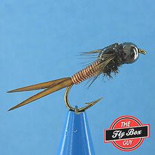 Copper John Copper TUNGSTEN Bead Head (6) Premium Fishing Flies -Select Sizes***
