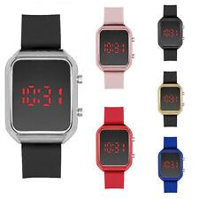 Fashion Digital LED Watch Men's Women Silicon Band Sport Quartz Wristwatch